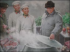 Kim Jong Il, the supreme commander of the KPA, deeply concerned over the soldiers' diet, by Ri Chol, 2000