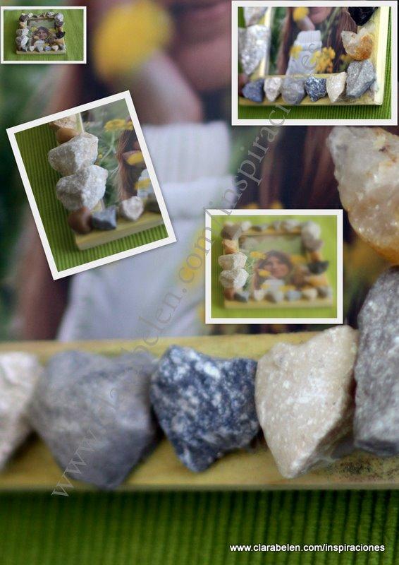 Inspiraciones: Marco piedras con forma de corazón corazón
