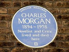 Photo of Charles Morgan blue plaque