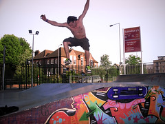 Barry Daly - Fast Ollie over the mound at Wycombe Skatepark (old_skool_paul) Tags: park uk blue summer sky sun mountain tree green beautiful k clouds speed lens fun high perfect long shine skateboarding no board air may fast bank rail fresh ollie skate hanging mound bucks grind height throw liability happening lofty wycombe bary noseslide canonef baly eflense ef3570mmf3545 crrok