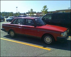 Volvo 240 (blue65pv544) Tags: red sc sedan volvo south parking lot carolina wal mart 240 spartanburg supercenter