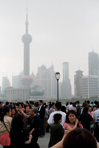 Crowds at The Bund, Shanghai