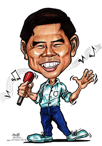 Caricatures for NUS -karaoke singer