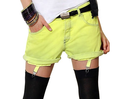 Diesel Preview FW10 micro denim shorts garters