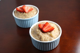 Brown Rice Pudding with Strawberries