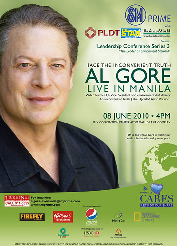 SM BRINGS AL GORE TO MANILA ON JUNE 8