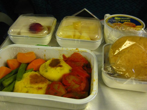 Inflight meals Malaysia Airlines KL-Frankfurt
