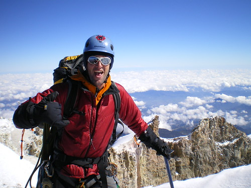 Summit of El Pico de Orizaba (18,701 ft) in Mexico