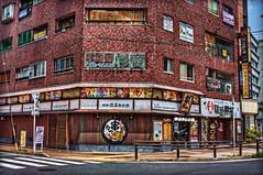 Bar with Old Beer Ads (JapanDave) Tags: japan photoshop canon buildings lens aperture kamakura kind software hdr aichiprefecture honshu photomatixpro eos450d camerainfo photospecs davidlaspina rebelxsi kissx2 1855efsis topazadjust japandave japandavecom flickrcopyrightstuff countries