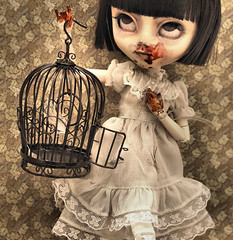 The Maiden and the Bird (Bloodberry Jam (Neyrelle)) Tags: doll ooak cage pullip custom serendipity