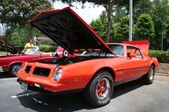 1975 Pontiac Firebird (osubuckialum) Tags: orange cars car nc buick gm northcarolina cadillac 1975 firebird pontiac 75 cary carshow olds old
