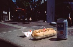 Lunch (airencracken) Tags: food 120 6x6 film 35mm mediumformat la losangeles fuji slidefilm april 135 e6 littletokyo 100asa 2010 emulsion fujisensia100 100iso fujisensia leicam3 prolab airencracken swanlabs