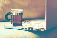 Red TEA.. (- M7D . S h R a T y) Tags: morning tea laptop redtea allrightsreserved