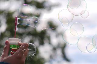 Colorful Soap Bubbles Pop