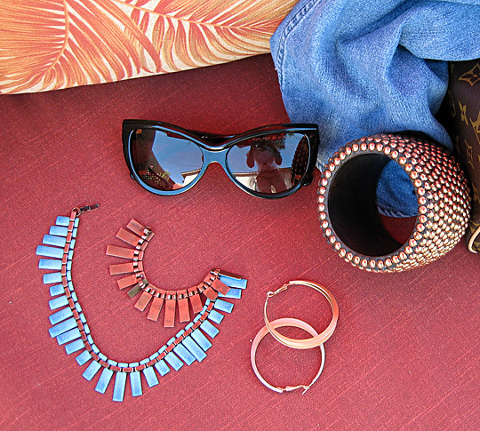 vintage matisse turquoise and copper necklace+accessories