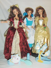 My three Belle dolls^^ (Belle25890) Tags: christmas holiday doll dress princess disney collection belle mattel beautyandthebeast enchantes