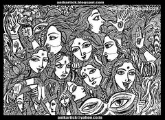 EXPRESSIONS of LIFE - Indian Art in my Traditional and Contemporary Art ( Pen Drawing ) - Artist Anikartick,Chennai,TamilNadu,India (ANIKARTICK ( T.Subbulapuram VASU,Andipatti,Theni )) Tags: flowers stilllife india seascape abstract art illustration pen pencil painting sketch paint artist drawing contemporary modernart watercolour illustrator sketches madurai tamilnadu artworks co