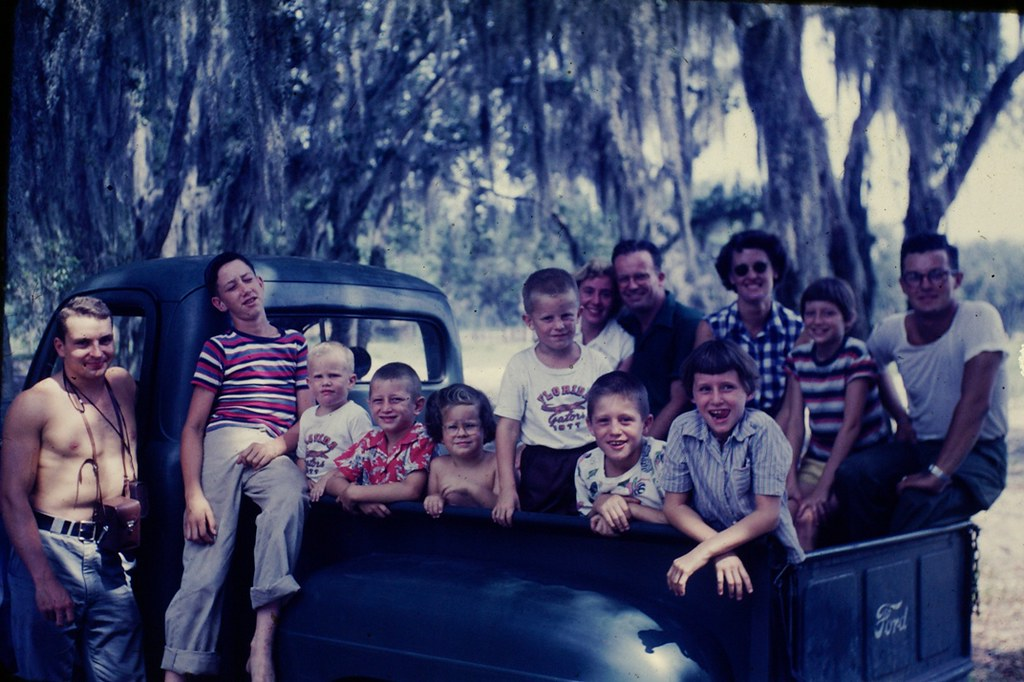 Family Reunion in  a Ford Truck - Florida - 1953