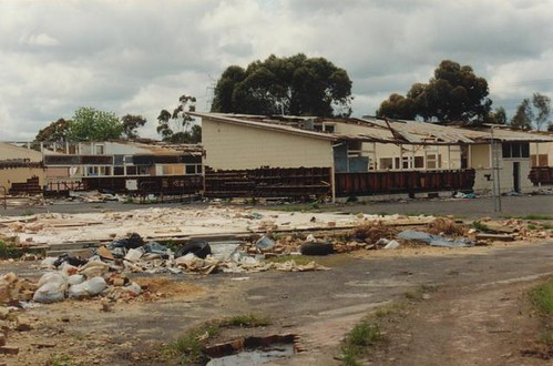 Newlands High School being demolished October1996