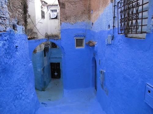 Chefchaouen medina, blue