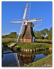 't Witte Lam , Windmill,Groningen,the Netherlands,Europe (Aheroy(2Busy)) Tags: holland water netherlands windmill dutch architecture landscape fun europe colours different nederland hallucination groningen molen tonemapped aheroy aheroyal beautifulgroningen