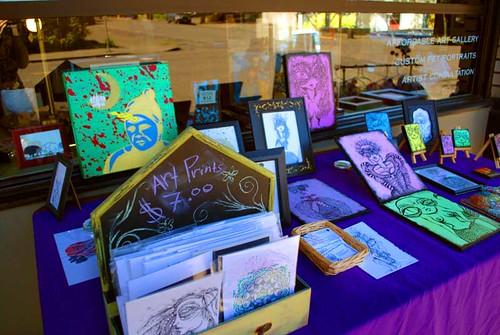 T.Ruth artspace- sidewalk sale