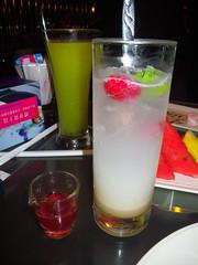 覆盆莓優格沙瓦&綠森林果汁