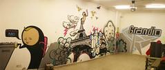 pingpongszalon (G__G) Tags: streetart wall graffiti gg eiffeltower characters vokha