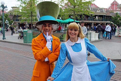 Meeting the Mad Hatter and Alice