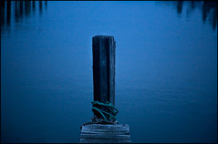 on being (not quite) centered (anjan58) Tags: blue water dawn pier balance centered kindofblue stealthispicture