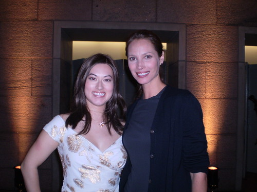 ONE member Kirika Bussell and Christy Turlington-Burns at the event in Ottawa