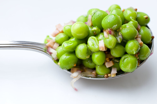 Fresh Pea Salad in a spoon