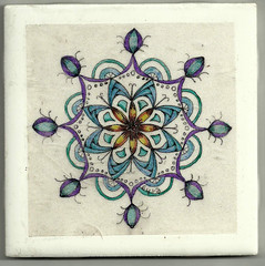 Thistles - Zendala (uubyrd) Tags: art meditation zentangle zendala