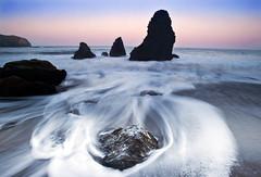 Tides of Time and Ocean (David Shield Photography) Tags: color sunrise waves tide pacificocean bayarea sausalito marinheadlands seastacks rodeobeach marinmagazine abigfave nikond700 platinumpeaceaward
