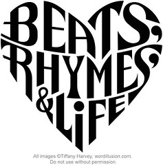 """Beats, Rhymes & Life"" Heart Design"