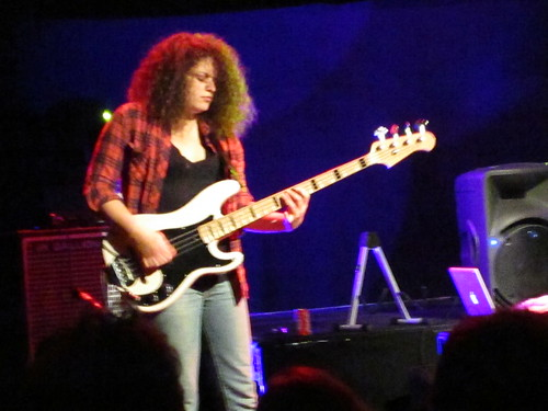 Julie Slick playing with the Adrian Belew Power Trio in London
