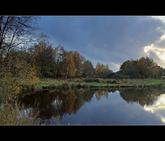 The Gathering Gloom (Craig Williams Photography) Tags: autumn water canon reflections landscape sussex pond pooh southeast hdr ashdownforest weald craigwilliams ellisonspond 20mmf28usm craigwilliamsgallery mygearandmepremium mygearandmebronze mygearandmesilver mygearandmegold