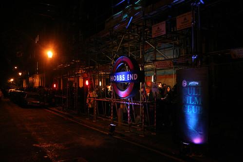 Tube sign outside the entrance