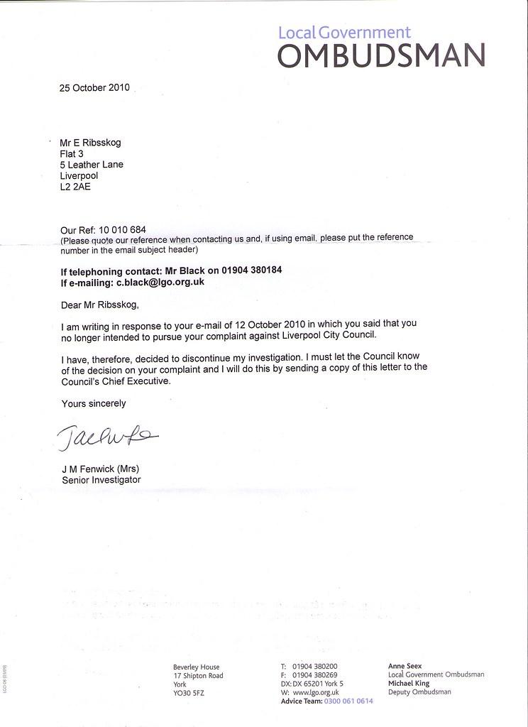 b799b644 Jeg fikk et nytt brev fra the Local Government Ombudsman
