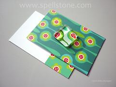 Magnet with cards (Spellstone) Tags: art glass print design artist pattern handmade surfacedesign moo fabric fridgemagnet glasstile textiledesign patterndesign fabricdesign alexmorgan spoonflower spellstone spoonforest printedbymoo
