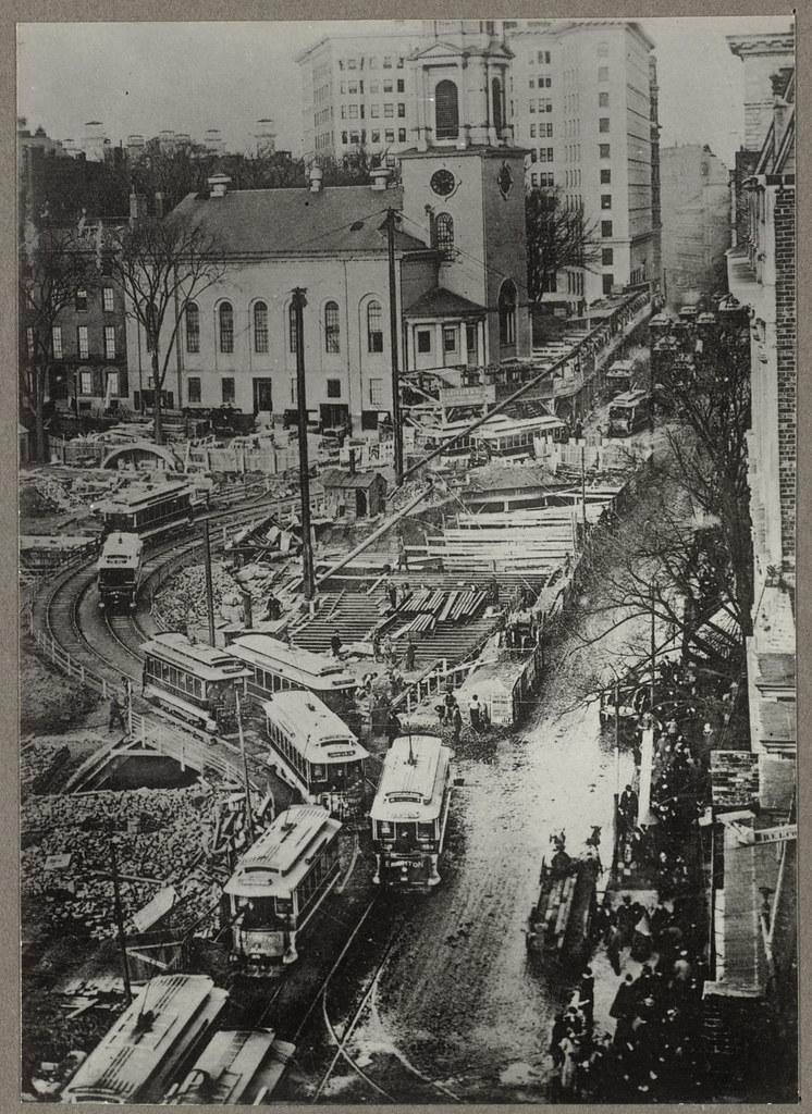 Subway construction, Park Street Station