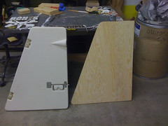 Board to fill the anchor locker door