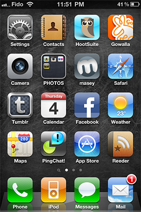 iPhone 4 screen shot