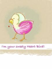 Heart-Bird (simki68) Tags: art sketch mobil sketchbook brushes fingerpainting fingerpainted mobilart artmobile fingerpainters simki68