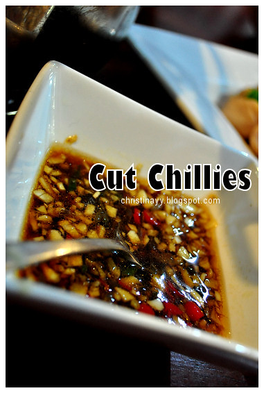 Chicken Rice Dinner: Cut Chillies