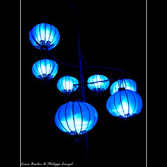 Blue lanterns - Montreal - Canada (Lucie et Philippe) Tags: voyage china trip travel light canada night lanterne montreal business lumiere lantern nuit lampion mygearandme mygearandmepremium mygearandmebronze