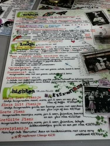 De Bakkers Winkel menu