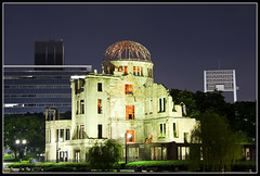 Hiroshima - Ground Zero (Unique_Snowflake) Tags: travel japan night canon war wwii hiroshima ww2 littleboy atombomb