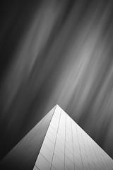 Pyramid 4 (Turnvater Janosch) Tags: blackandwhite monochrome architecture abstract longexposure leipzig saxony germany dnb deutschenationalbibliothek germannationallibrary neutraldensityfilter sky pyramid