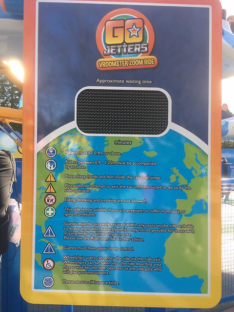 Go Jetters Vroomster Zoom Ride Queue Time Board